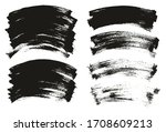flat paint brush thin curved... | Shutterstock .eps vector #1708609213