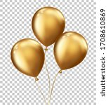 realistic floating balloons...   Shutterstock .eps vector #1708610869