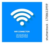 wifi icon design with drop...