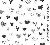 heart doodles seamless pattern. ...   Shutterstock .eps vector #1708614526