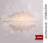 happy valentine's day lettering....   Shutterstock .eps vector #170861504