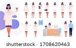 woman doctor. set character in... | Shutterstock .eps vector #1708620463