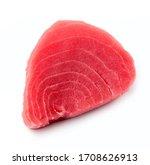 Steak Of Tuna Fish Isolated On...
