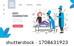 doctors in masks examining...   Shutterstock .eps vector #1708631923