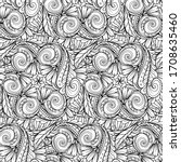 black and white abstract floral ...   Shutterstock .eps vector #1708635460