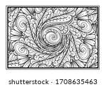 black and white decorative...   Shutterstock .eps vector #1708635463