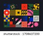 geometric distress aesthetics...   Shutterstock .eps vector #1708637200