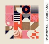 new retro aesthetics in... | Shutterstock .eps vector #1708637203