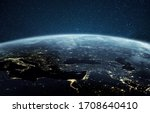 Beautiful planet earth with...