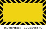 warning sign on yellow... | Shutterstock .eps vector #1708645540