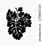 leaf motif  black silhouettes... | Shutterstock .eps vector #170865110