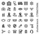 corona and virus related icon... | Shutterstock .eps vector #1708655686