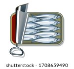 canned oil sardines   vector... | Shutterstock .eps vector #1708659490