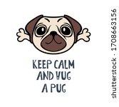 Keep Calm And Hug A Pug Funny...