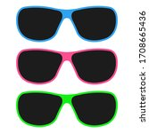 glasses set  icons. graphic...   Shutterstock .eps vector #1708665436