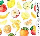 watercolor pattern halloween... | Shutterstock . vector #1708670170