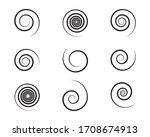 spiral and swirl motion... | Shutterstock .eps vector #1708674913