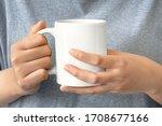 closeup of women hand holding... | Shutterstock . vector #1708677166