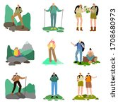 Set Of People Travelers...
