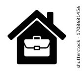 briefcase on house icon symbol  ...   Shutterstock .eps vector #1708681456