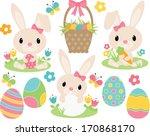 easter bunny  pink  | Shutterstock .eps vector #170868170