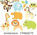 Stock vector baby animals boy 170868179