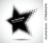 halftone star perspective frame ... | Shutterstock .eps vector #1708684696