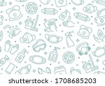 disinfection seamless pattern.... | Shutterstock .eps vector #1708685203