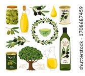 olive symbols illustration.... | Shutterstock . vector #1708687459