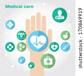 medical care flat icon... | Shutterstock .eps vector #170869919