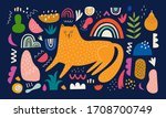 cute spring pattern collection... | Shutterstock .eps vector #1708700749