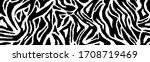 zebra fur   stripe skin  animal ... | Shutterstock .eps vector #1708719469