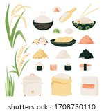 Rice Vector Icon Set....