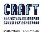 outline font  urban modern... | Shutterstock .eps vector #1708744609