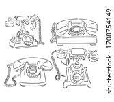 Vintage Phone Hand Drawn Sketch ...