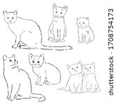 Cats Set  Vector Illustration ...