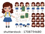 student girl character creation ... | Shutterstock .eps vector #1708754680
