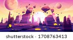 alien planet landscape for... | Shutterstock .eps vector #1708763413