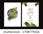 green and gold wedding set with ...   Shutterstock .eps vector #1708775026