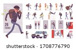 thief  masked man stealing... | Shutterstock .eps vector #1708776790