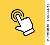 clicking finger icon  hand... | Shutterstock .eps vector #1708783756