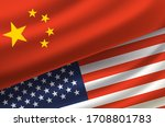 china and usa. vector...   Shutterstock .eps vector #1708801783