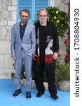 """Small photo of London, United Kingdom- July 16, 2018: Bjorn Ulvaeus and Benny Andersson attend the World Premiere of """"Mamma Mia! Here We Go Again"""" at Eventim Apollo in London, UK."""