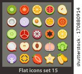 vector flat icon set 15 | Shutterstock .eps vector #170880914