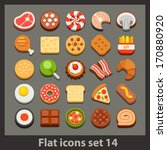 vector flat icon set 14 | Shutterstock .eps vector #170880920