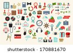 set of miscellaneous icons | Shutterstock .eps vector #170881670