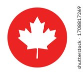 maple leaf and circle on white | Shutterstock .eps vector #1708817269