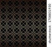 linear golden and black art... | Shutterstock .eps vector #1708831930
