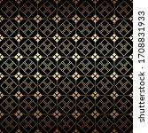 golden and black art deco... | Shutterstock .eps vector #1708831933