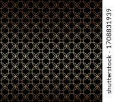 linear black and gold geometric ... | Shutterstock .eps vector #1708831939